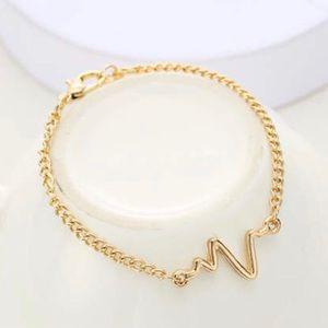 Jewelry - Gold echocardiogram bracelet